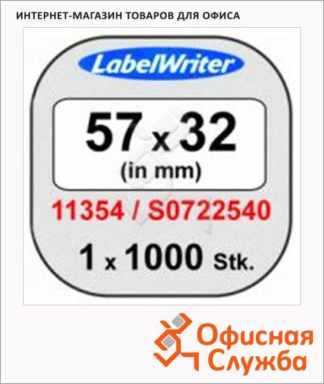 Картридж для принтера этикеток Dymo S0722540/11354, 57x 32мм, белый