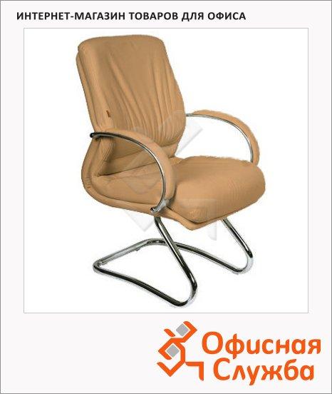 Кресло посетителя Chairman 445 нат. кожа, на полозьях