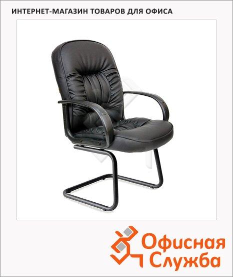 Кресло посетителя Chairman 416 V иск. кожа, на полозьях