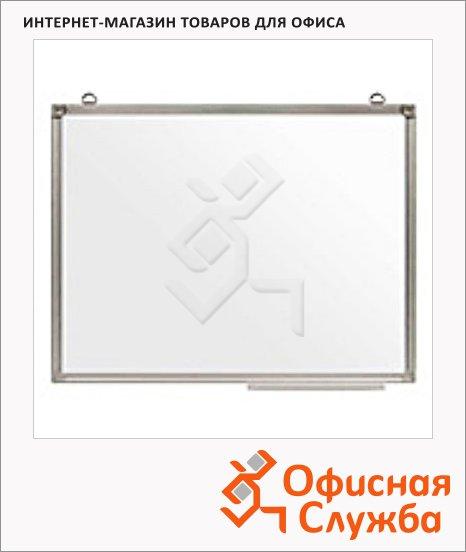 Доска магнитная маркерная Attache Эконом, белая, лаковая, полочка