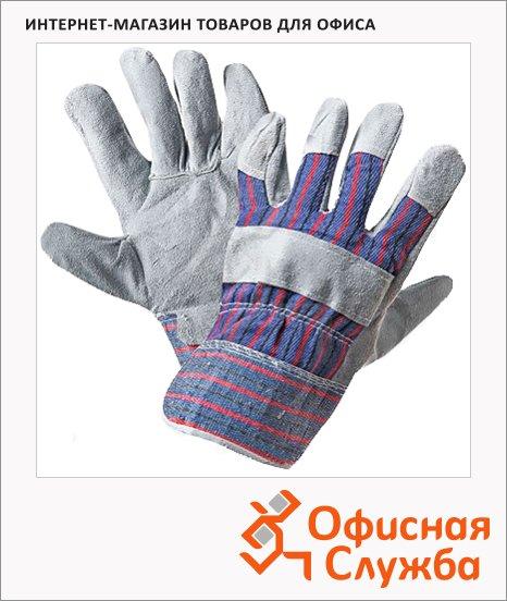 Перчатки спилковые Ангара комбинированные