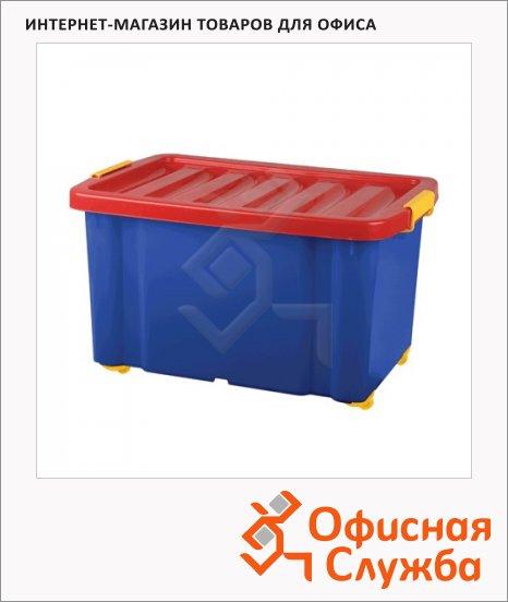 фото: Ящик для хранения с крышкой Plast Team Jumbo 60л 39.3х59.3х33.9см
