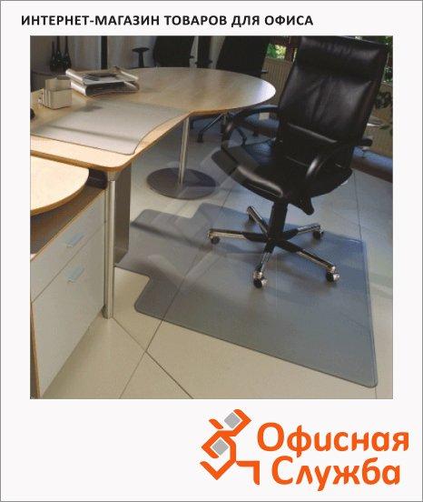 Коврик под кресло Floortex Т-образный 900х1200мм, 2мм, 600434, для гладкой поверхности