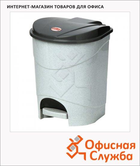 Контейнер для мусора с педалью М-Пластика, серый