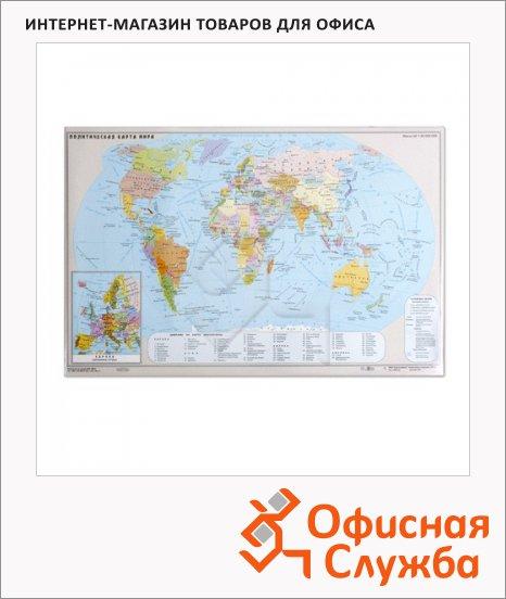 Коврик настольный для письма 38х59см, Карта мира, 2129.М