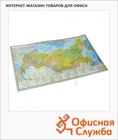 фото: Коврик настольный для письма Дпс 38х59см Карта России, 2129.Р