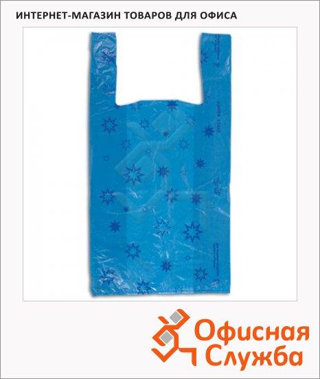 Пакет Майка Звезды 31х18х59см, 18мкм, 100 шт/уп, с рисунком
