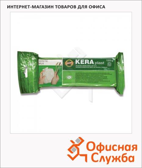 Керамическая масса для лепки Koh-I-Noor Keraplast 1кг, белая, 131706