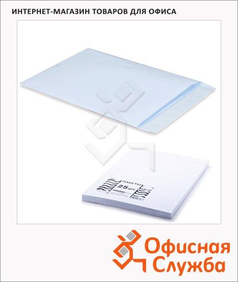 фото: Пакет почтовый бумажный плоский Курт C4 белый 229х324мм, 90г/м2, 25шт, стрип