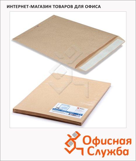 Пакет почтовый бумажный плоский Курт C4 крафт, 229х324мм, 90г/м2, 25шт, стрип
