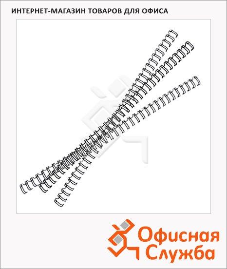 Пружины для переплета металлические Fellowes, на 1-30 листов, 6.4мм, 100шт
