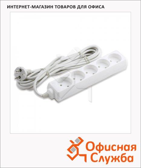 фото: Удлинитель электрический Старт 5 розеток 5м, белый, без заземления