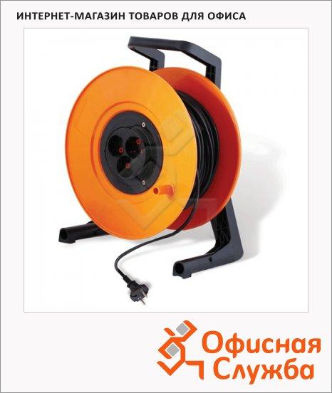 фото: Удлинитель электрический на катушке Старт 3 розетки 50м, оранжево-черный