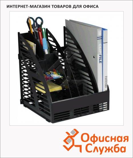 Накопитель вертикальный для бумаг Беларусь А4, 3 секции, 240мм, черный, 4С143