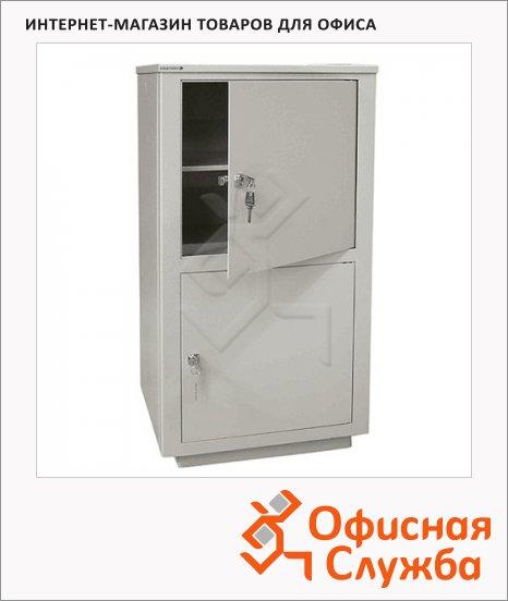 Шкаф металлический для документов Надежда ШМС-2 для документов, сварной, 890х464х409мм