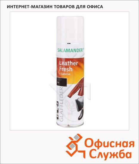 Аэрозоль для обуви Salamander Leather Fresh для гладкой кожи, черный, 250мл