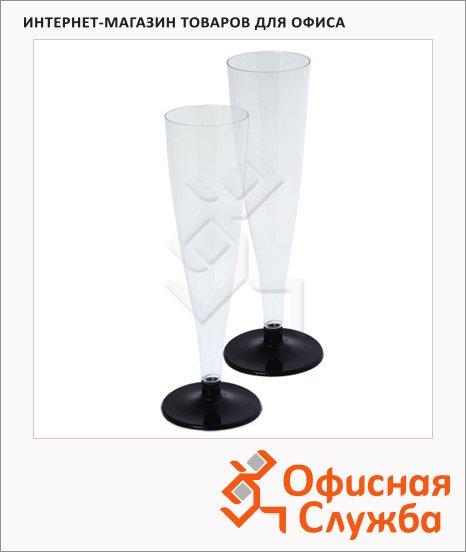 Бокал одноразовый для шампанского Horeca прозрачный, 165мл, 6шт/уп
