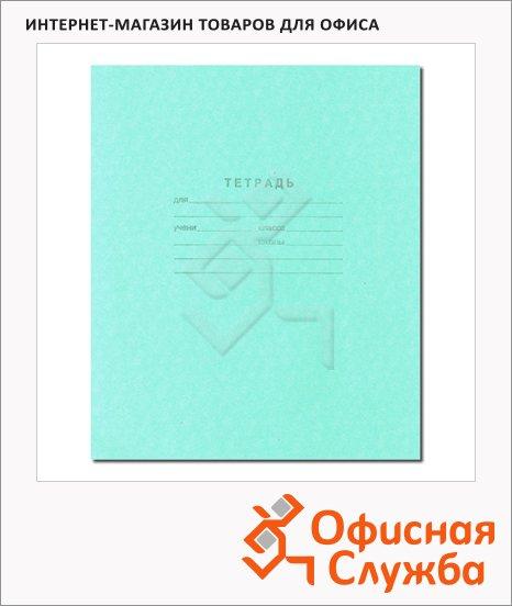 Тетрадь школьная Мировые Тетради зеленая, А5, 18 листов, в клетку, на скрепке, бумага