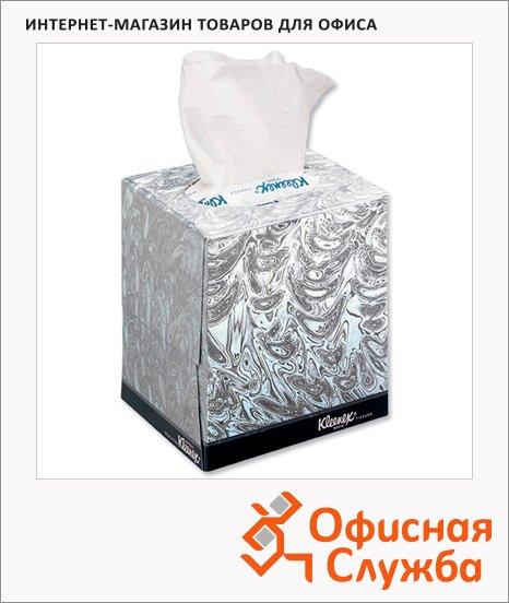 Салфетки косметические Kimberly-Clark Kleenex 90шт, 21х20см, 2 слоя, белые
