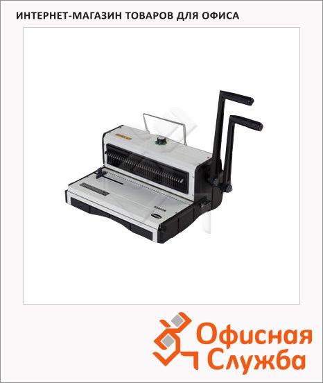 Брошюровщик гребеночный Office Kit B3420R, на 20 листов, переплет до 120 листов, металлическая пружина