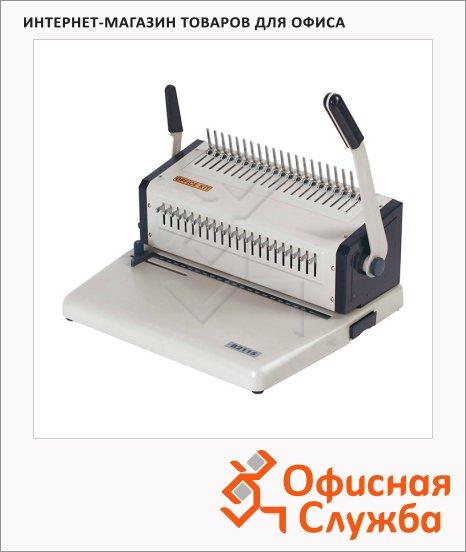 Брошюровщик гребеночный Office Kit B2115, на 15 листов, переплет до 500 листов, пластиковая пружина