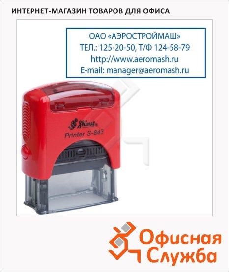 Оснастка для прямоугольной печати Shiny Printer S-843 47х18мм, красная