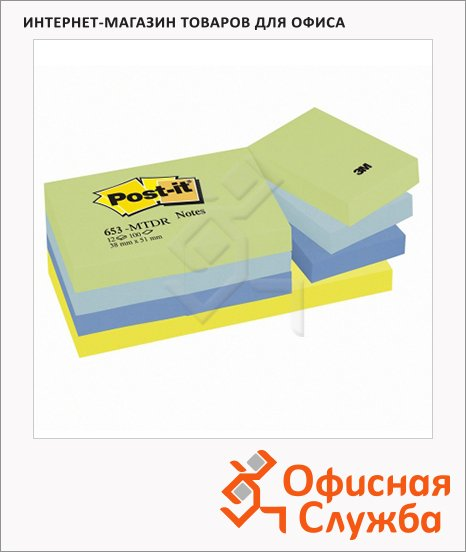 Блок для записей с клейким краем Post-It 653-TFEN