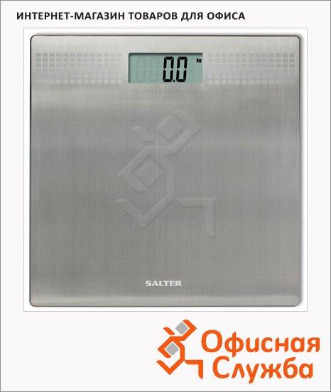 фото: Весы напольные 9059 серебристые до 180 кг, электронные