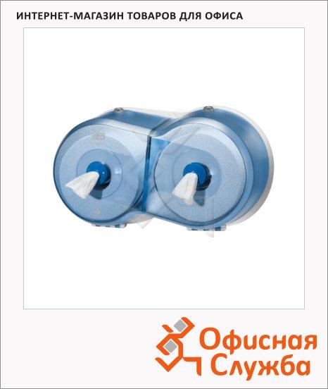 Диспенсер для туалетной бумаги в рулонах Tork Wave T9, 472027, с центральной вытяжкой, мини, синий