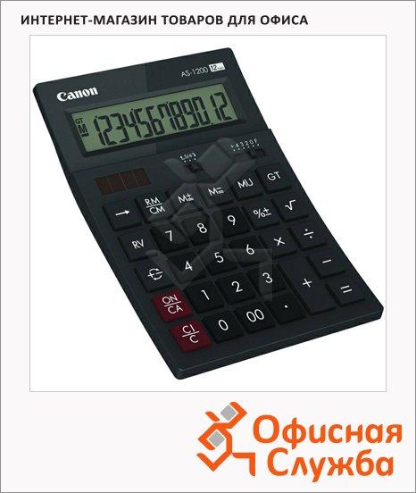 Калькулятор настольный Canon AS-1200 HB черный, 12 разрядов, бухгалтерский