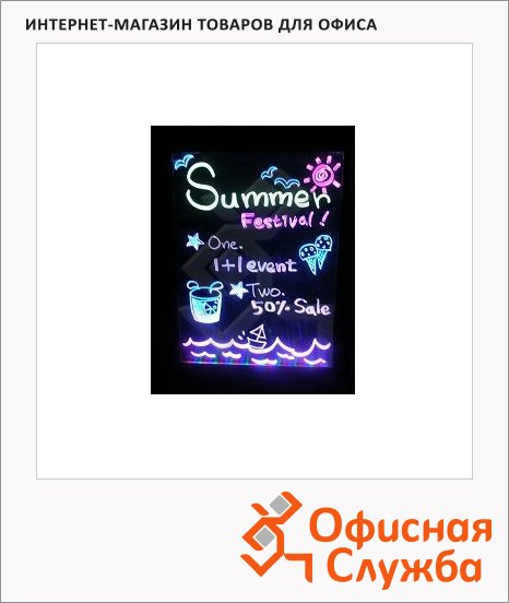 Маркерная светодиодная панель Miracle Board MAS L 61х81см, черная