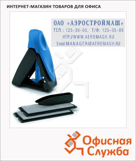 Штамп прямоугольный самонаборный Trodat Mobile Printy 4 строки, 47х18мм, 9412/DB