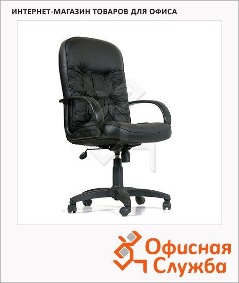 Кресло руководителя Chairman 416 иск. кожа, черная, крестовина пластик