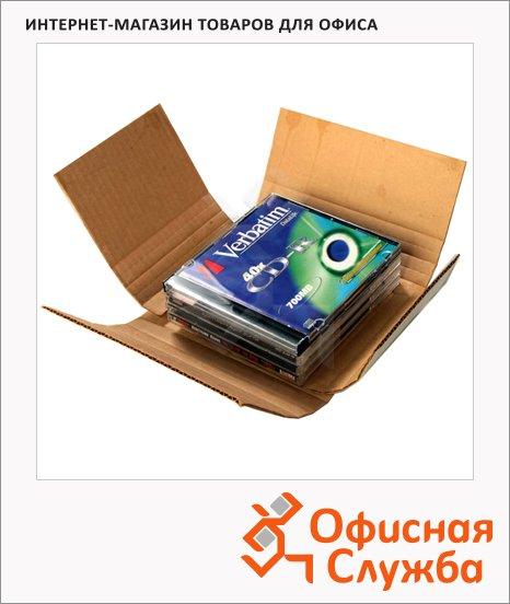 фото: Коробка под CD-бокс Промтара Офис Стандарт 355 14.5х12.5х5.5см гофрокартон, белый
