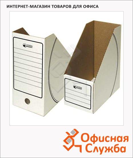 Накопитель вертикальный для бумаг Промтара Офис Стандарт А4, 150мм, белый, 285