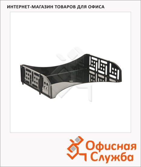 фото: Лоток горизонтальный для бумаг Стамм Филд А4 черный, ЛТ801