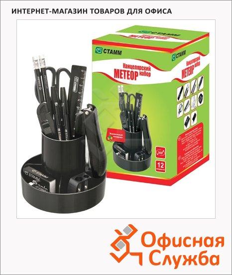 Органайзер настольный Стамм Mini Desk КН 12 предметов, черный, КН104