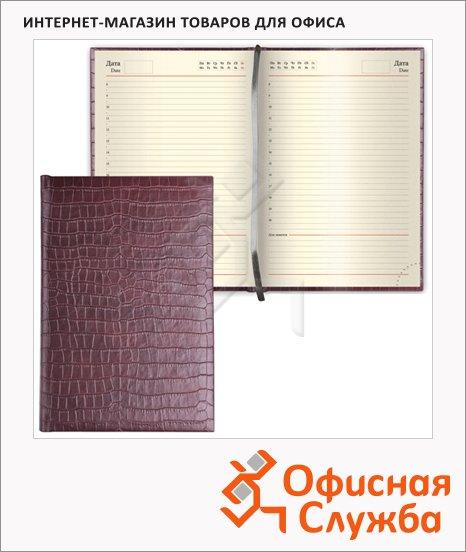 Ежедневник недатированный Brauberg Comodo, А5, 160 листов, под матовую крокодиловую кожу