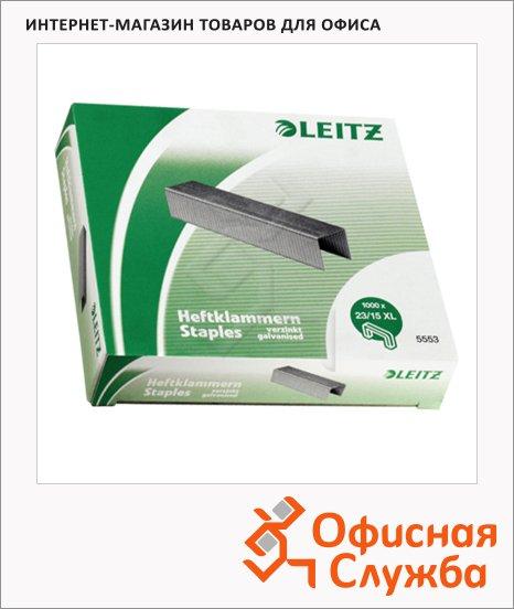 Скобы для степлера Leitz Power Performance P6 №23/15XL, оцинкованные, 1000 шт