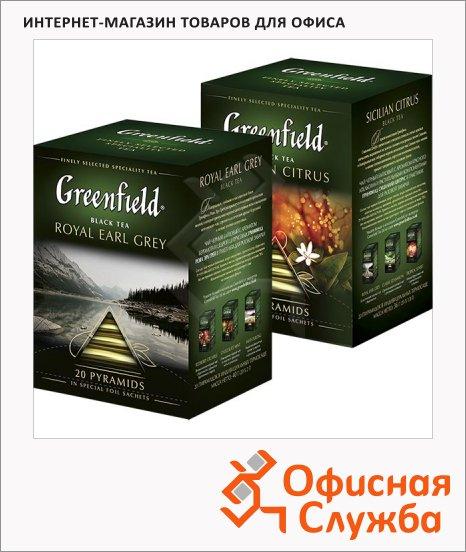 Чай Greenfield, черный, в пирамидках, 20 пакетиков
