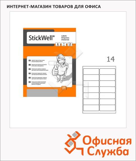 фото: Этикетки белые Stickwell 11251 99.1x38.1мм, 1400шт