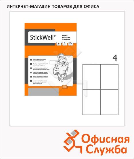 фото: Этикетки белые Stickwell 11256 105x148мм, 400шт