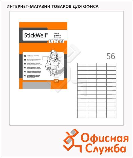 фото: Этикетки белые Stickwell 11759 52.5x21.2мм, 5600шт