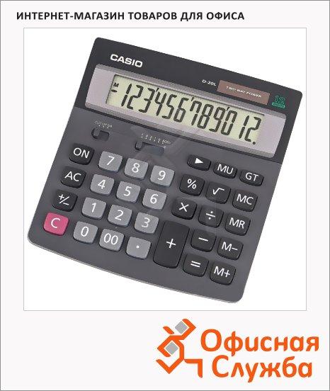фото: Калькулятор настольный D20L черный 12 разрядов