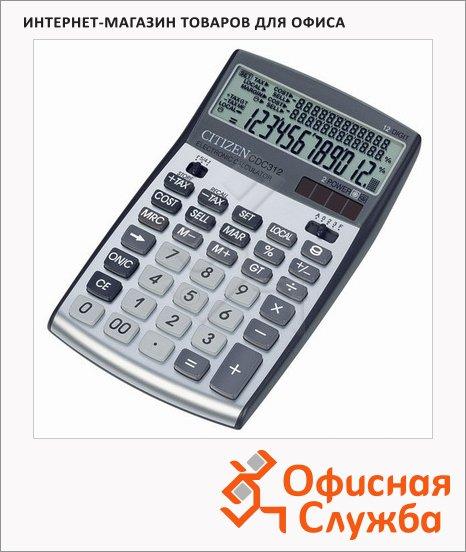 Калькулятор настольный Citizen CDC-312WB серый, 12 разрядов