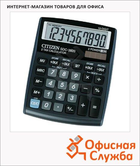 фото: Калькулятор настольный Citizen SDC-3920BP черный 10 разрядов