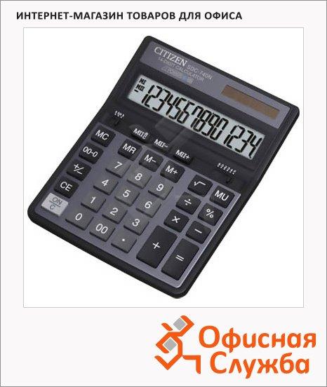 Калькулятор настольный Citizen SDC-740 N черный, 14 разрядов