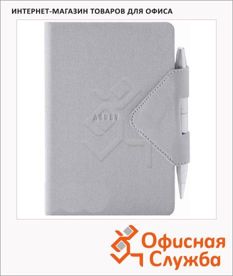 Блокнот Arwey Idea-box, А6, 104 листа, нелинованный, на сшивке, искусственная кожа, с магнитным клапаном и ручкой