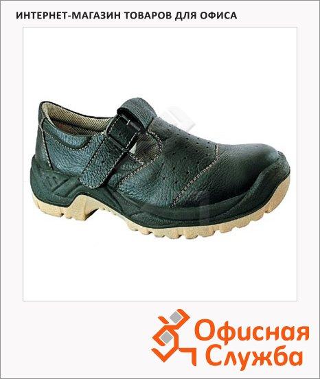 Сандалии Worker Ход 9118, черные, с металл.носом