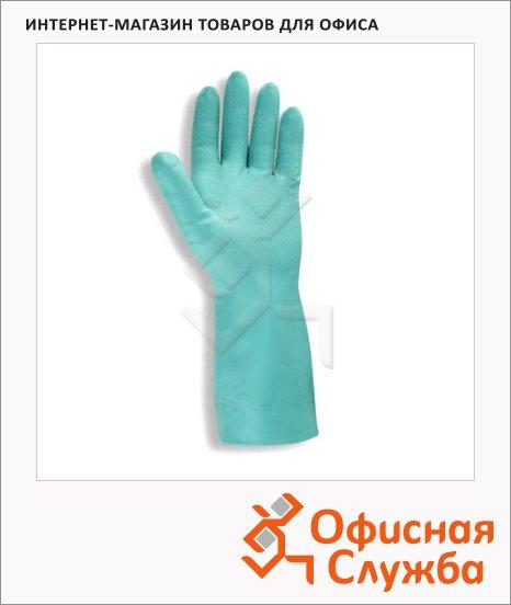 Перчатки защитные Ansell Солвекс, нитрил, зеленые, 37-675